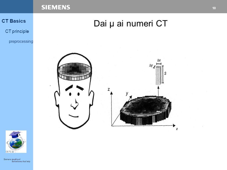Dai µ ai numeri CT