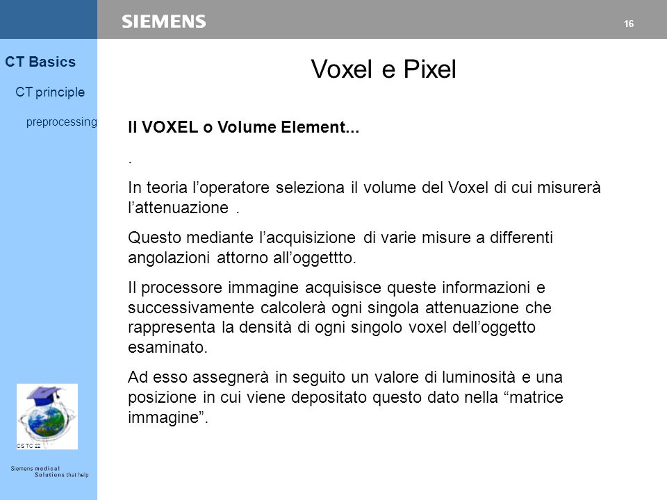 Voxel e Pixel Il VOXEL o Volume Element... .