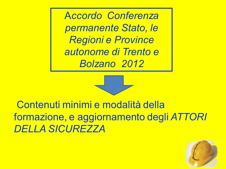 Accordo Conferenza permanente Stato, le Regioni e Province autonome di Trento e Bolzano 2012