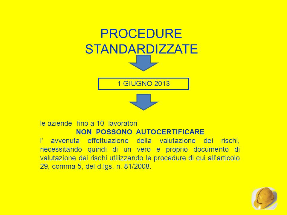 PROCEDURE STANDARDIZZATE