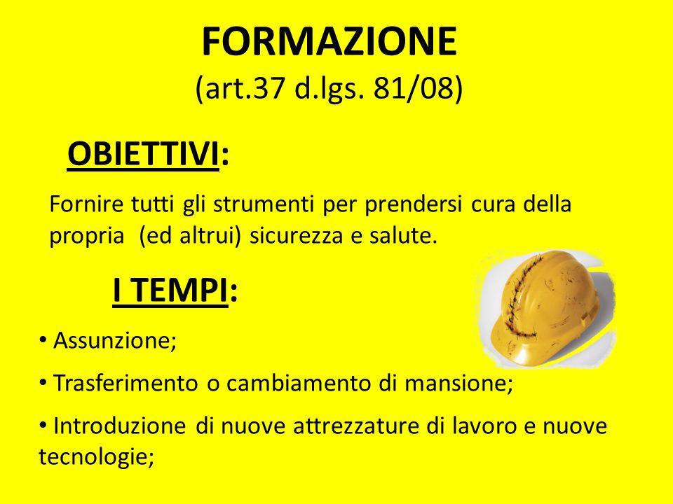 FORMAZIONE (art.37 d.lgs. 81/08)