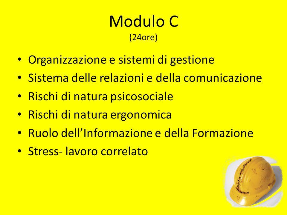 Modulo C (24ore) Organizzazione e sistemi di gestione