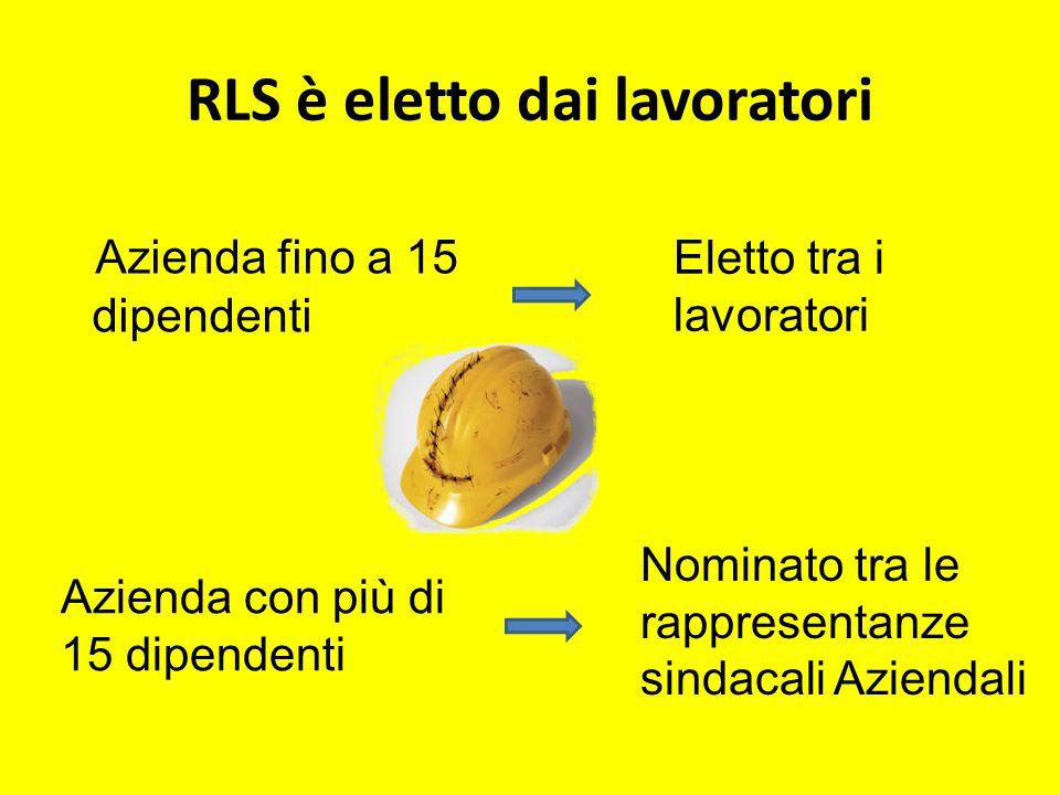 RLS è eletto dai lavoratori