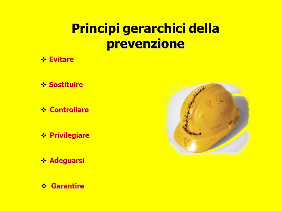 Principi gerarchici della prevenzione