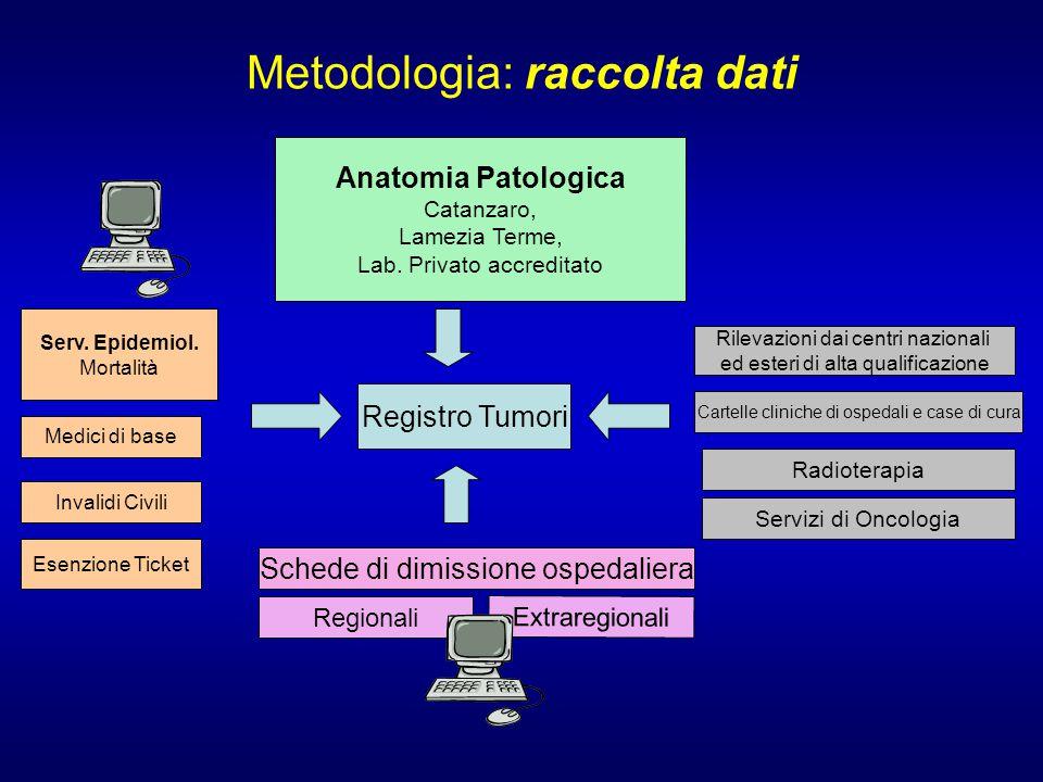 Metodologia: raccolta dati