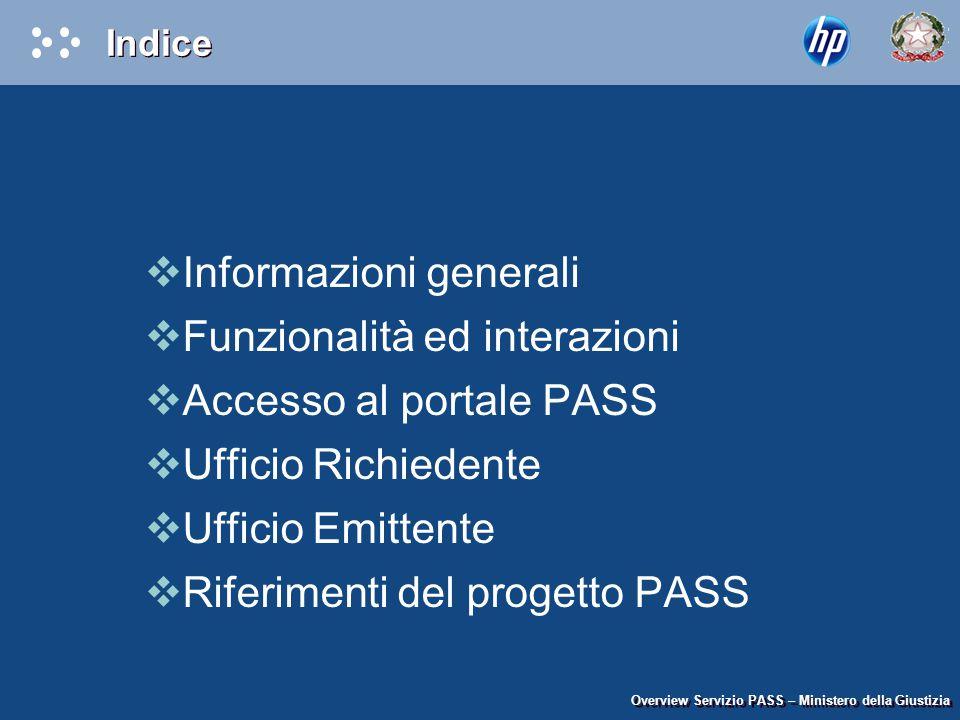 Informazioni generali Funzionalità ed interazioni