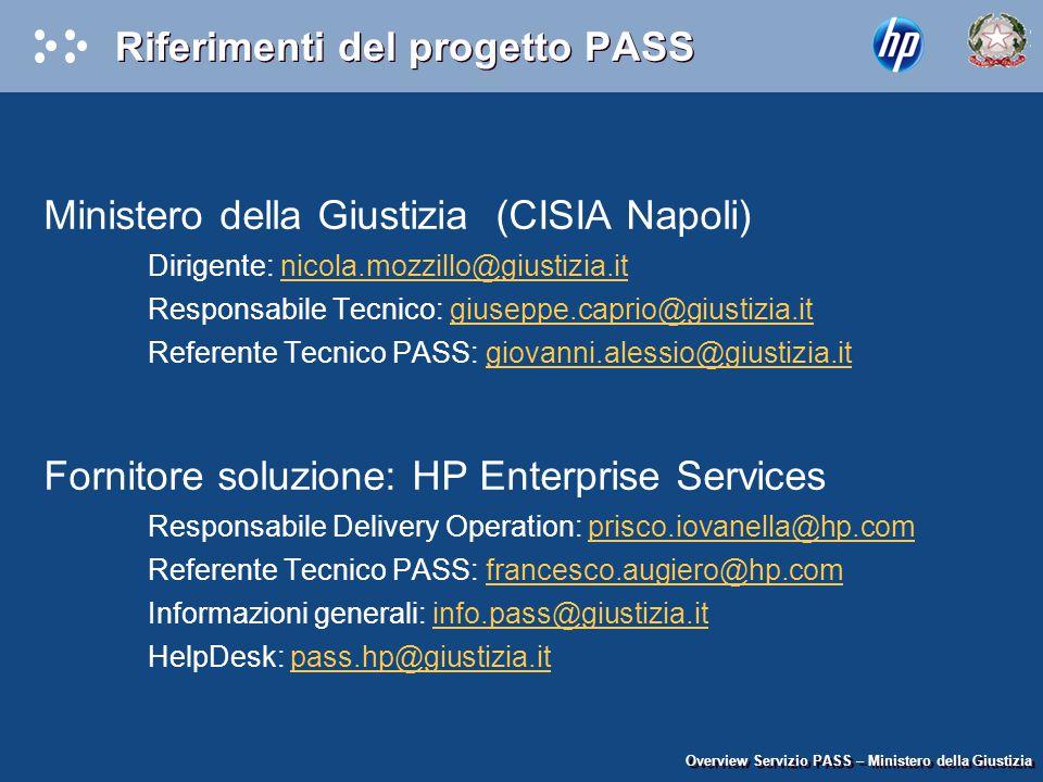 Riferimenti del progetto PASS