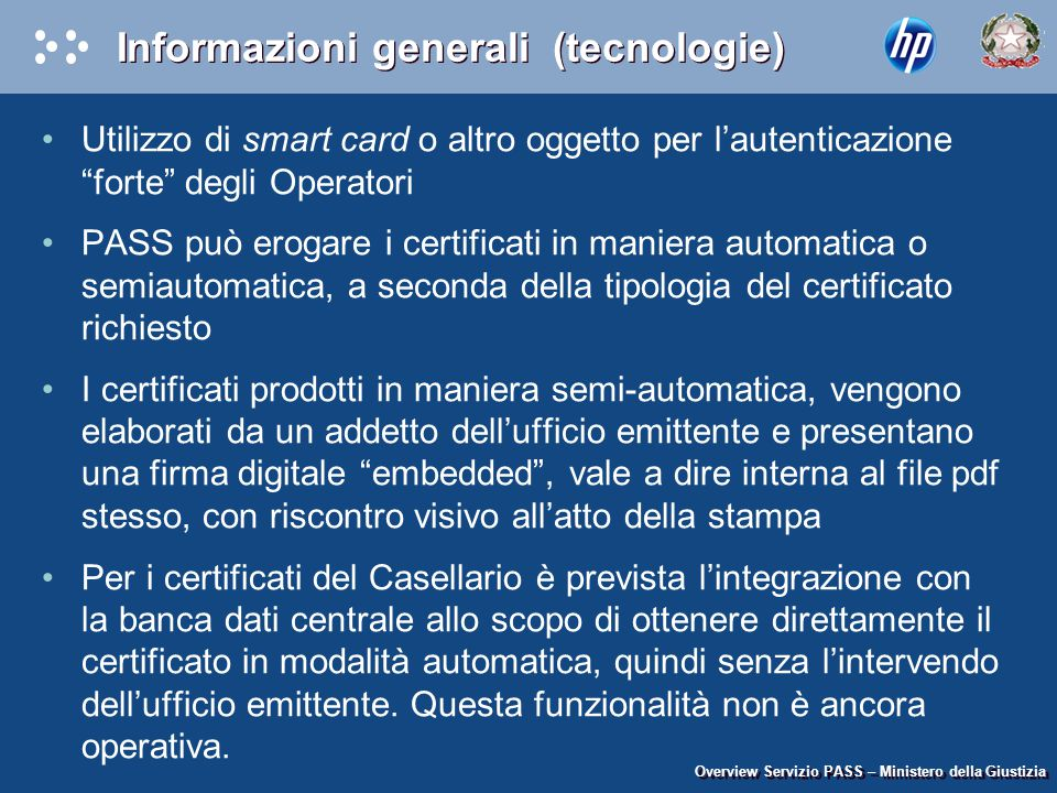 Informazioni generali (tecnologie)