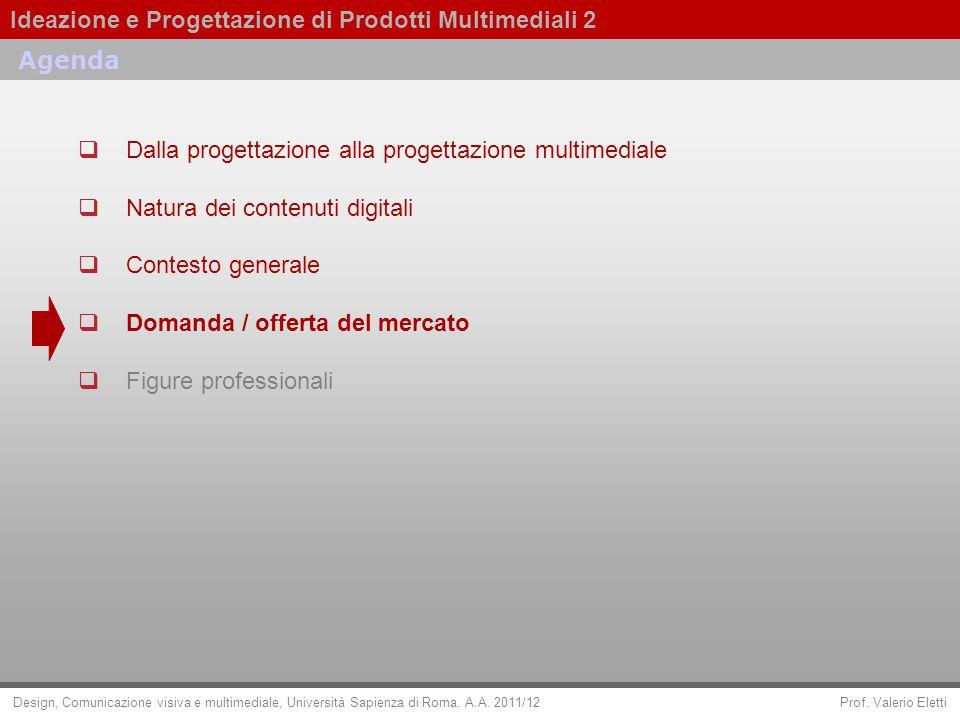Agenda Dalla progettazione alla progettazione multimediale. Natura dei contenuti digitali. Contesto generale.