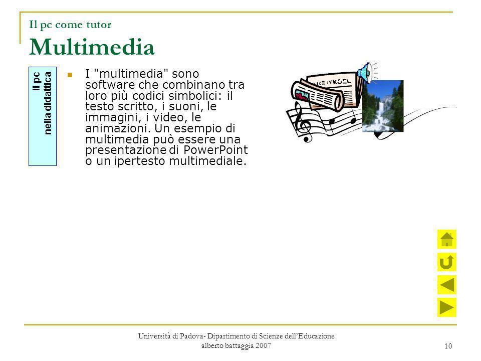 Il pc come tutor Multimedia