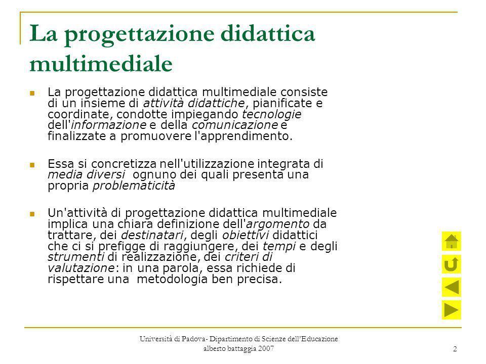 La progettazione didattica multimediale