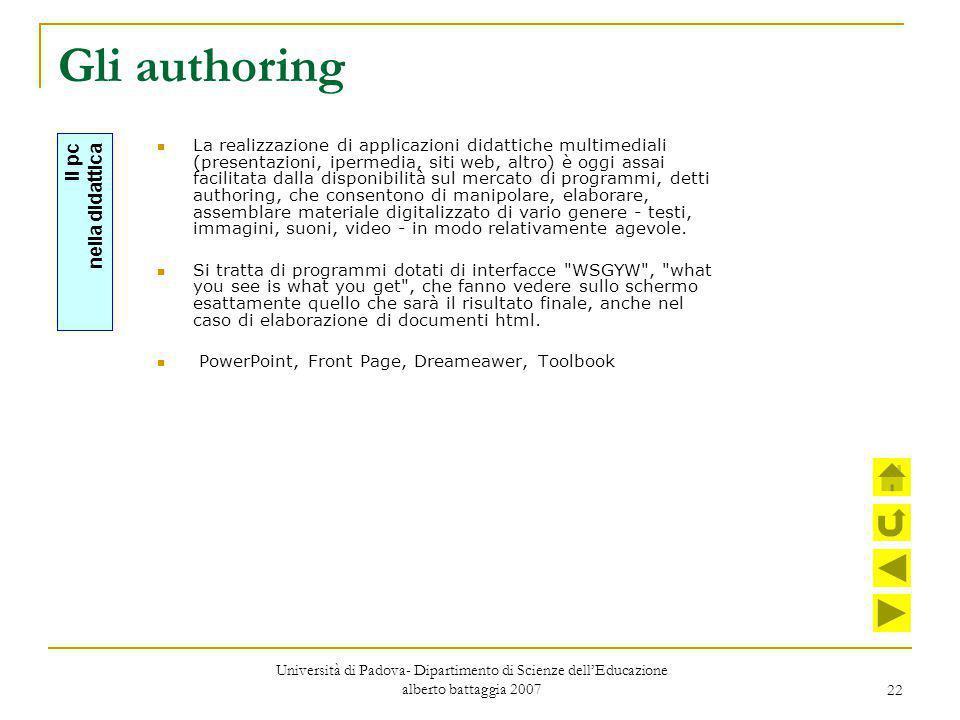Gli authoring Il pc nella didattica