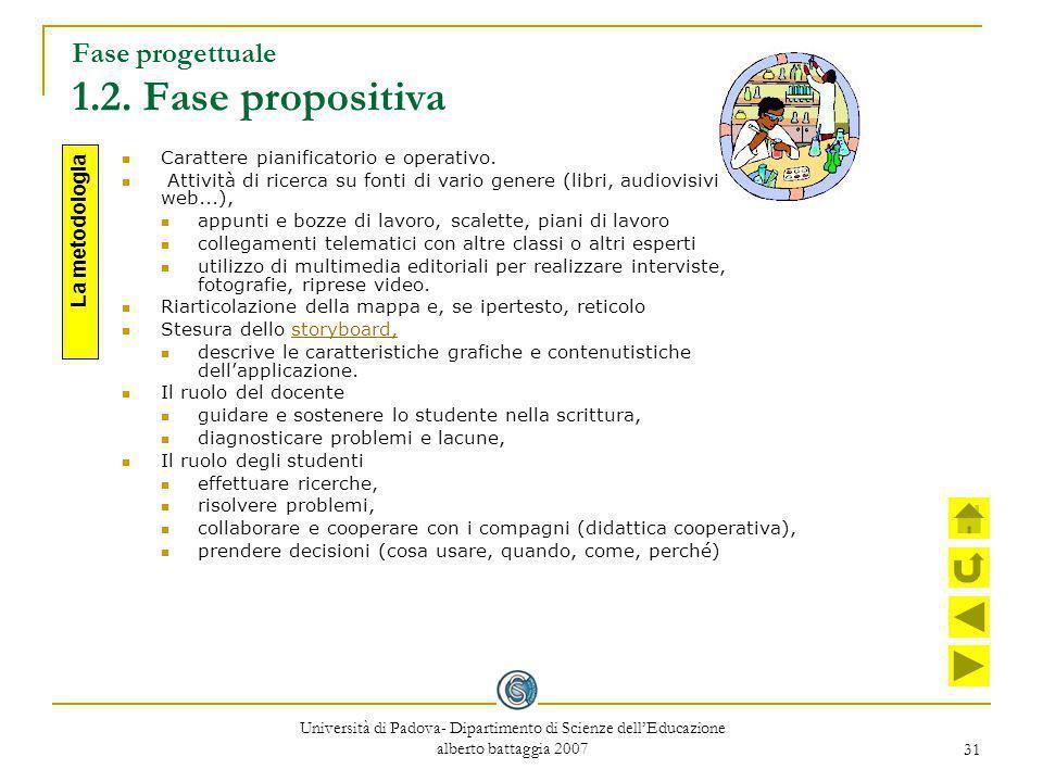 Fase progettuale 1.2. Fase propositiva