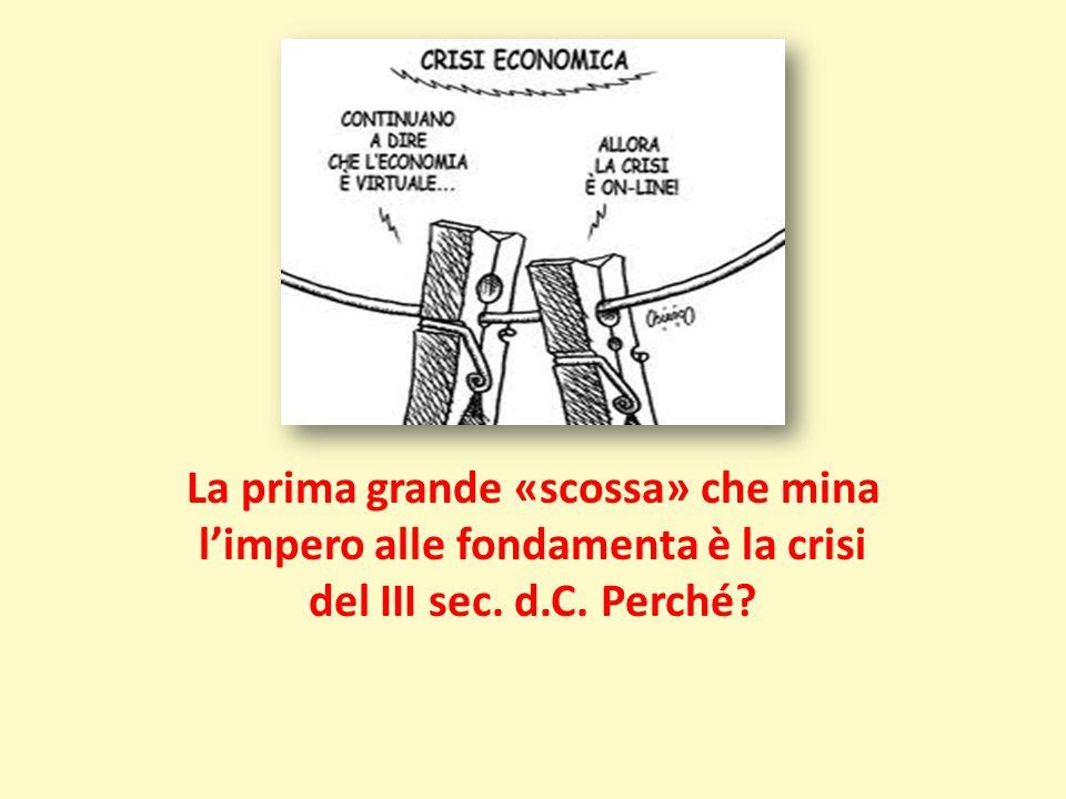 La prima grande «scossa» che mina l'impero alle fondamenta è la crisi del III sec. d.C. Perché