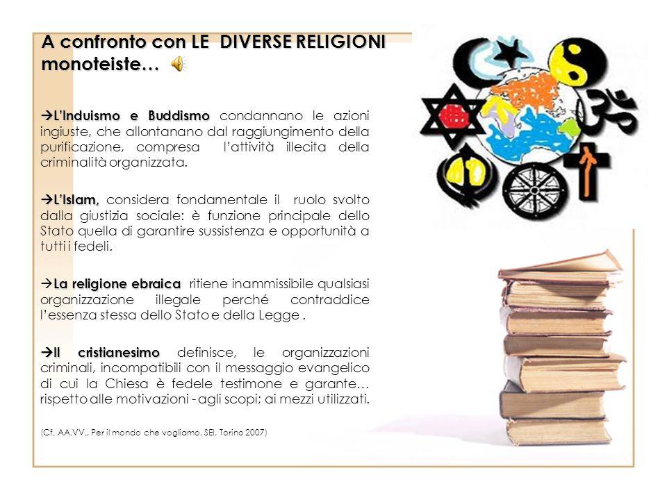 A confronto con LE DIVERSE RELIGIONI monoteiste…