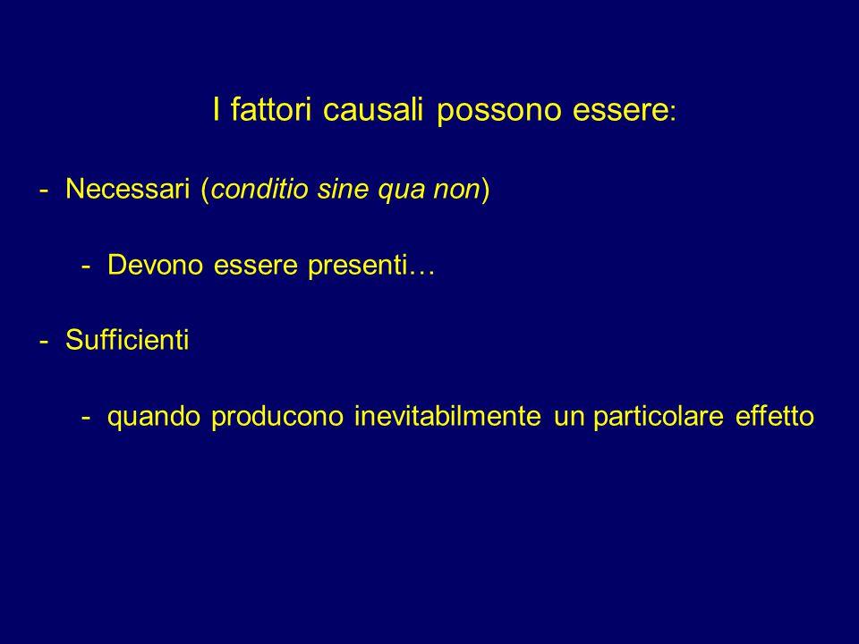 I fattori causali possono essere: