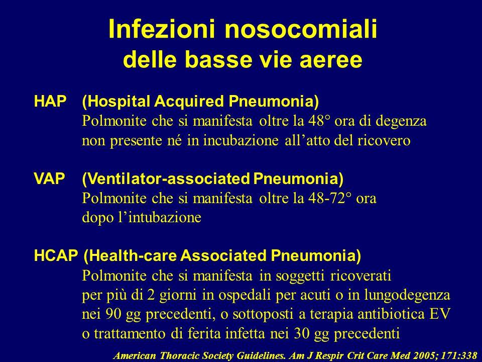 Infezioni nosocomiali delle basse vie aeree