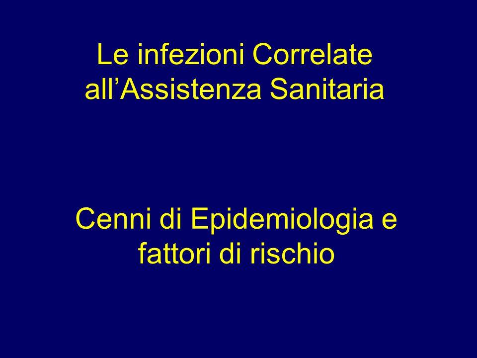 Le infezioni Correlate all'Assistenza Sanitaria