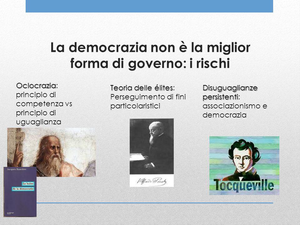 La democrazia non è la miglior forma di governo: i rischi