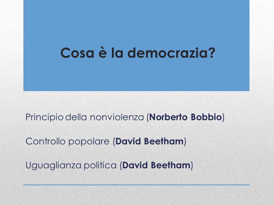 Cosa è la democrazia Principio della nonviolenza (Norberto Bobbio)