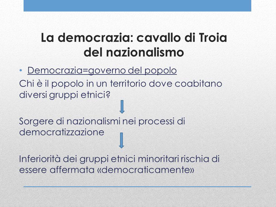 La democrazia: cavallo di Troia del nazionalismo