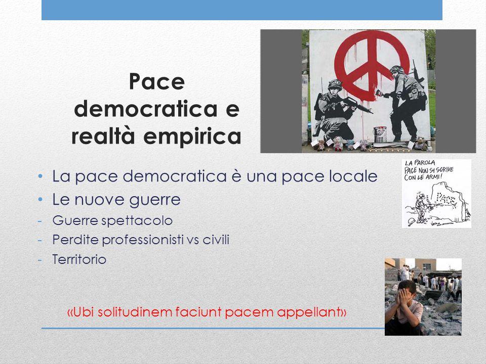 Pace democratica e realtà empirica