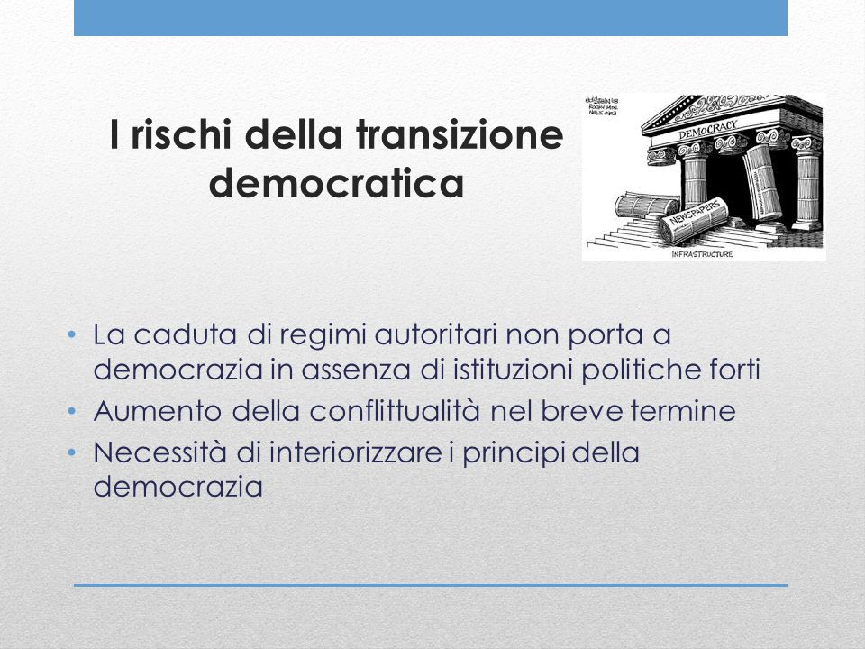 I rischi della transizione democratica