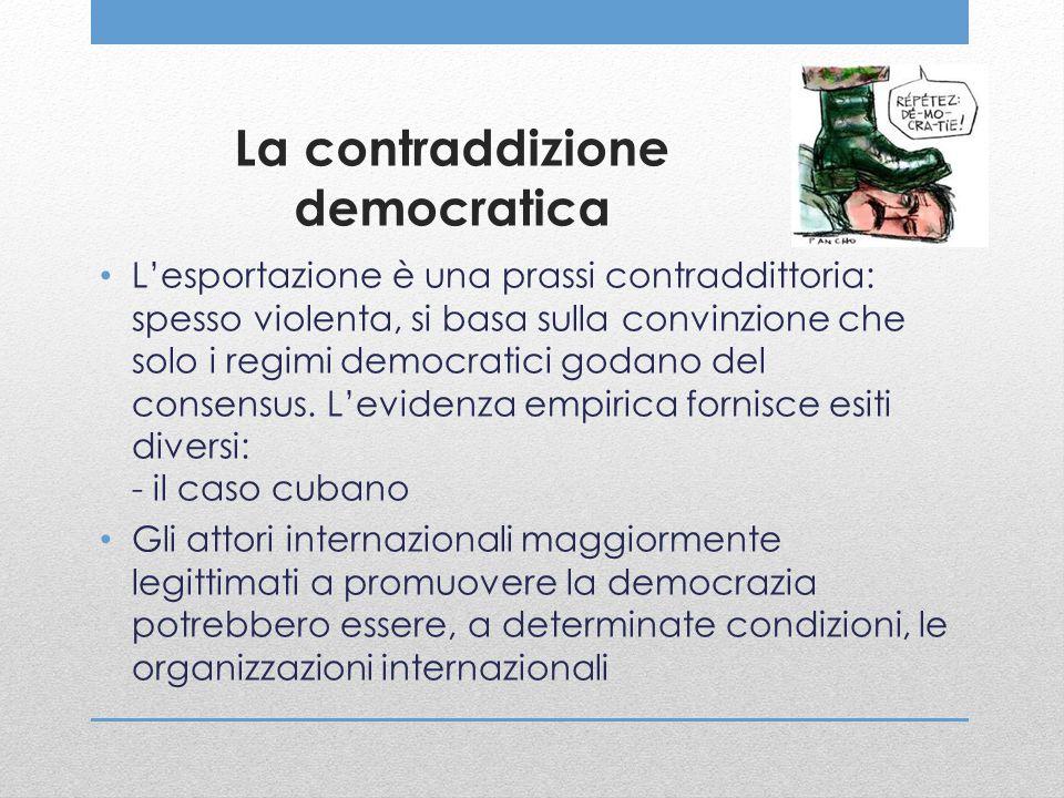 La contraddizione democratica