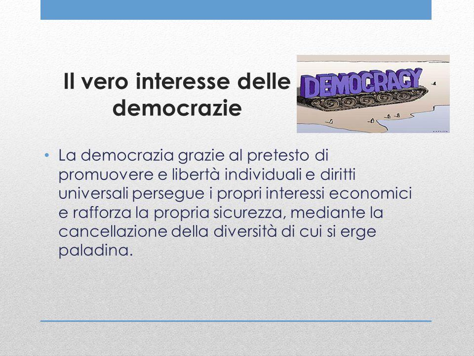 Il vero interesse delle democrazie