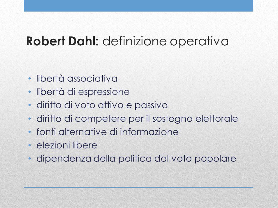 Robert Dahl: definizione operativa
