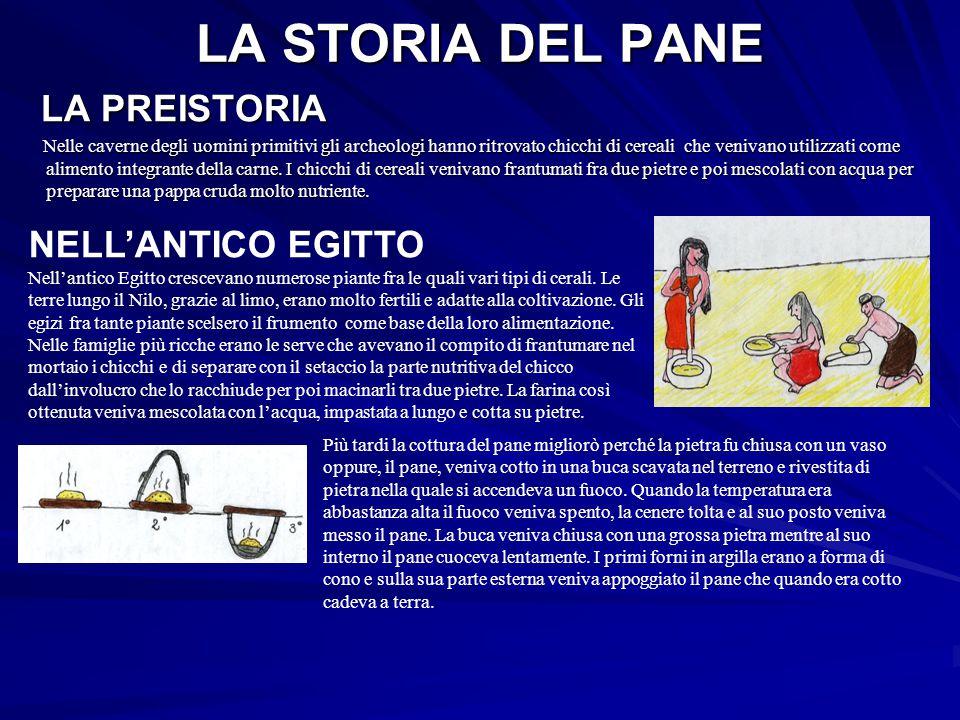 LA STORIA DEL PANE LA PREISTORIA NELL'ANTICO EGITTO