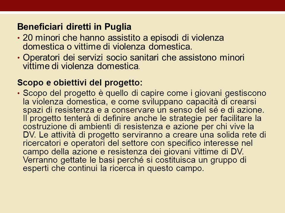 Beneficiari diretti in Puglia
