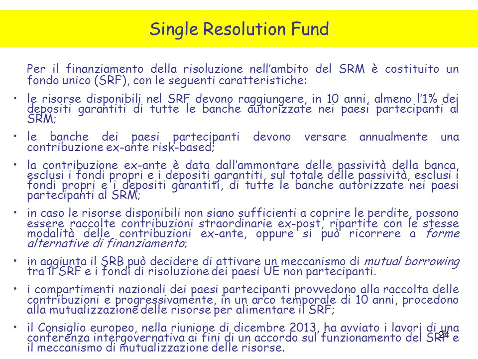 Single Resolution Fund