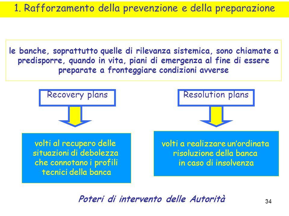 1. Rafforzamento della prevenzione e della preparazione