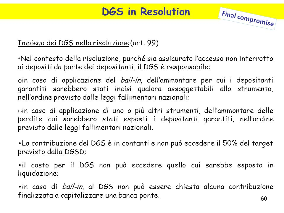 DGS in Resolution Final compromise