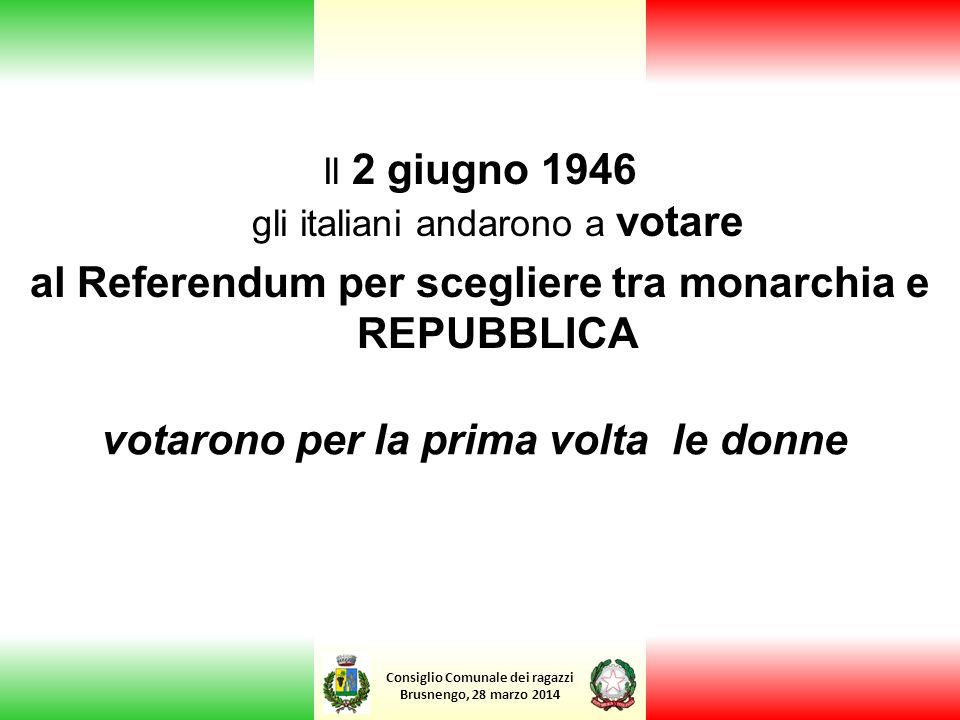 al Referendum per scegliere tra monarchia e REPUBBLICA