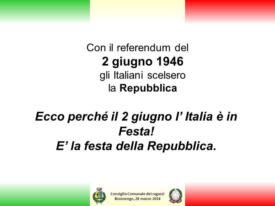 Ecco perché il 2 giugno l' Italia è in Festa!