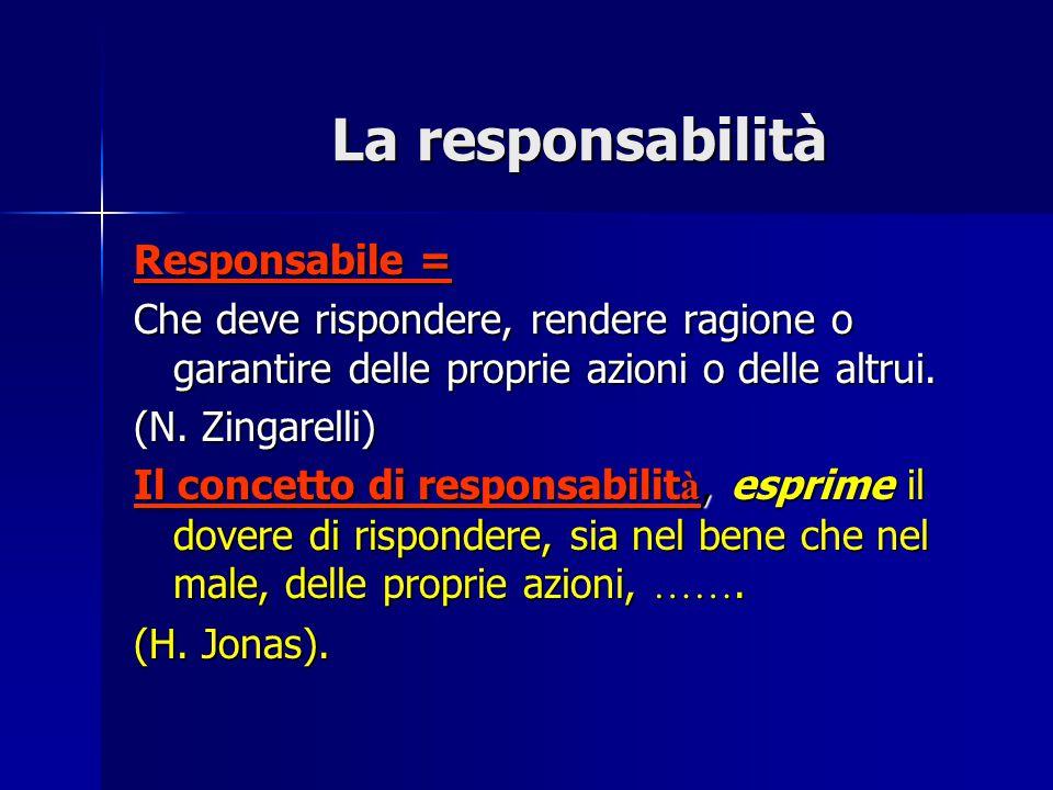 La responsabilità Responsabile =