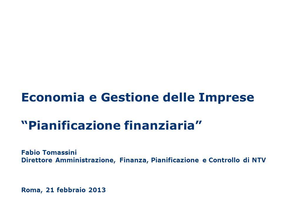 Economia e Gestione delle Imprese Pianificazione finanziaria