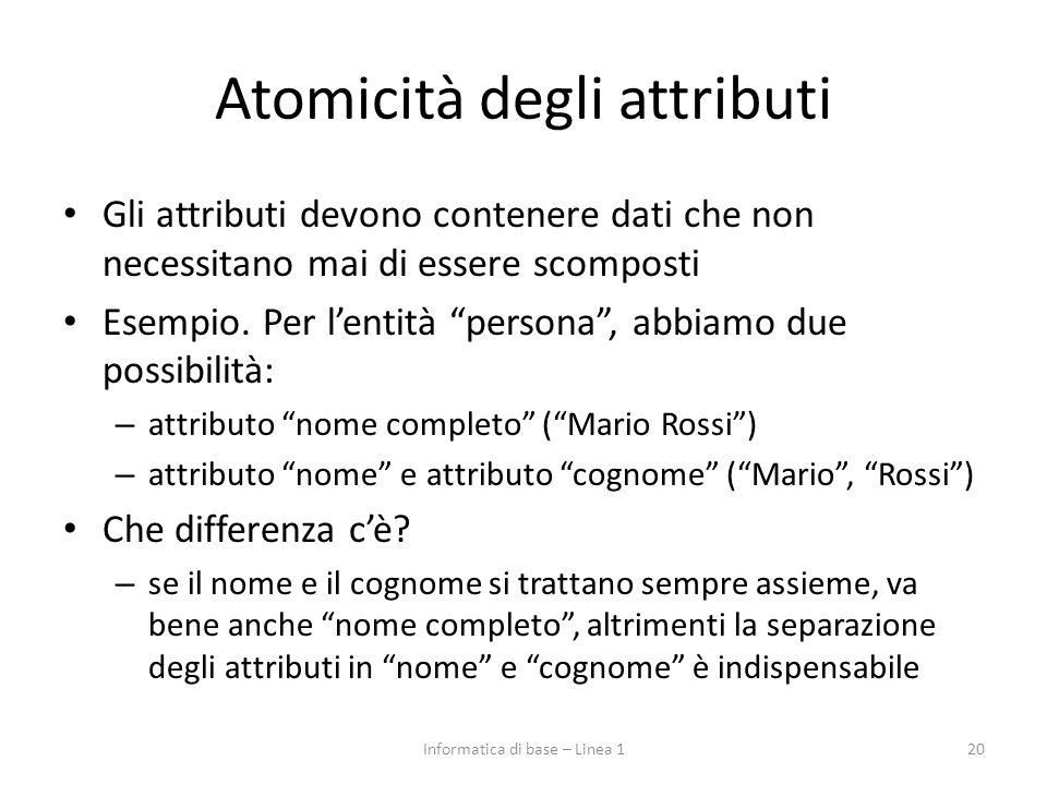 Atomicità degli attributi