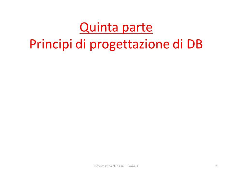 Quinta parte Principi di progettazione di DB