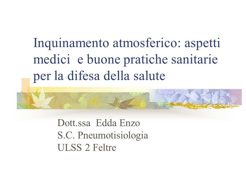 Dott.ssa Edda Enzo S.C. Pneumotisiologia ULSS 2 Feltre