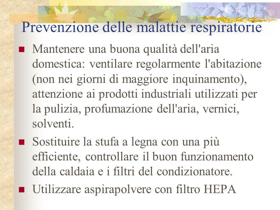 Prevenzione delle malattie respiratorie