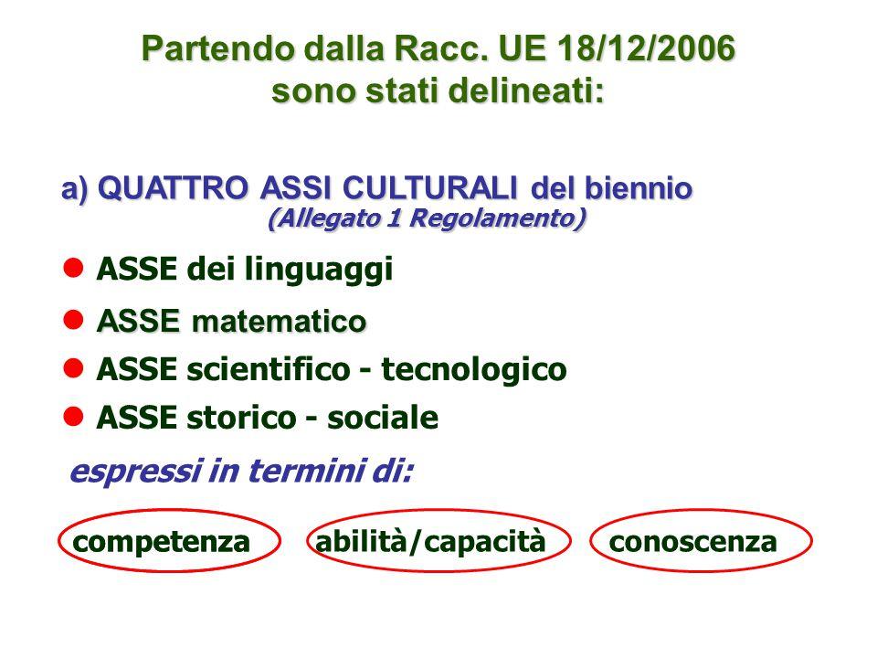 Partendo dalla Racc. UE 18/12/2006 sono stati delineati: