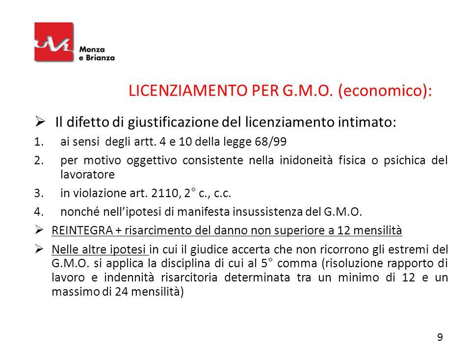 LICENZIAMENTO PER G.M.O. (economico):
