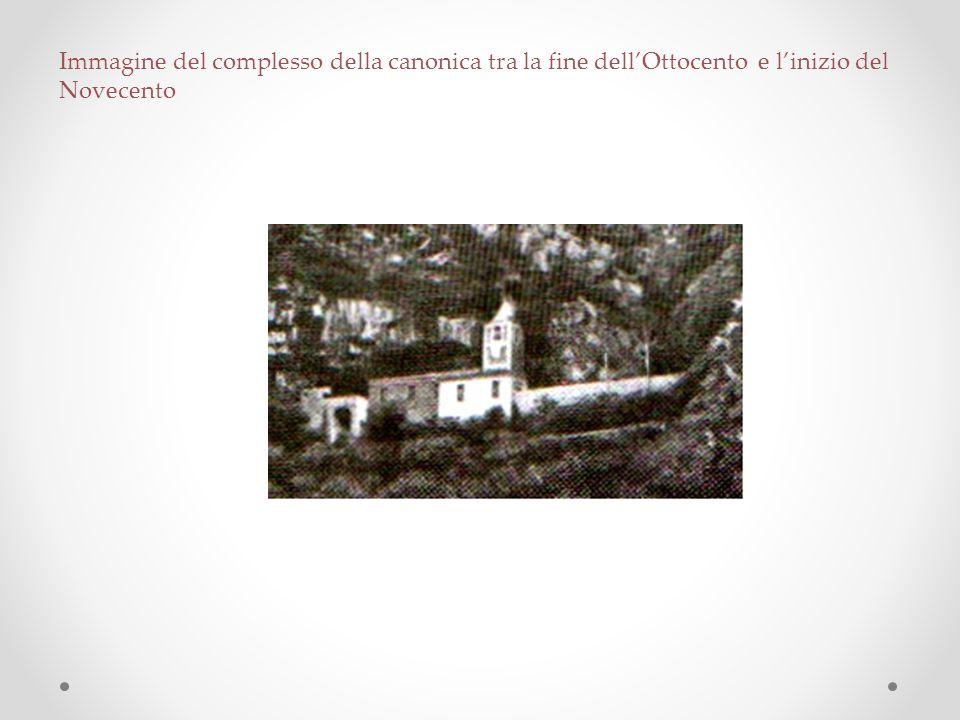 Immagine del complesso della canonica tra la fine dell'Ottocento e l'inizio del Novecento