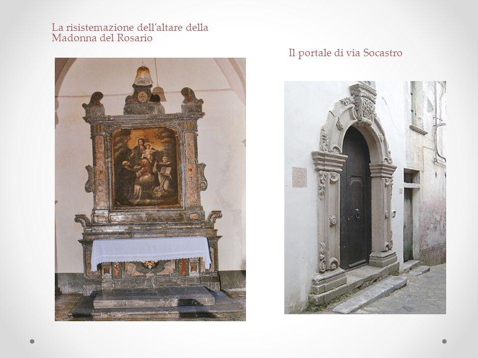 La risistemazione dell'altare della Madonna del Rosario