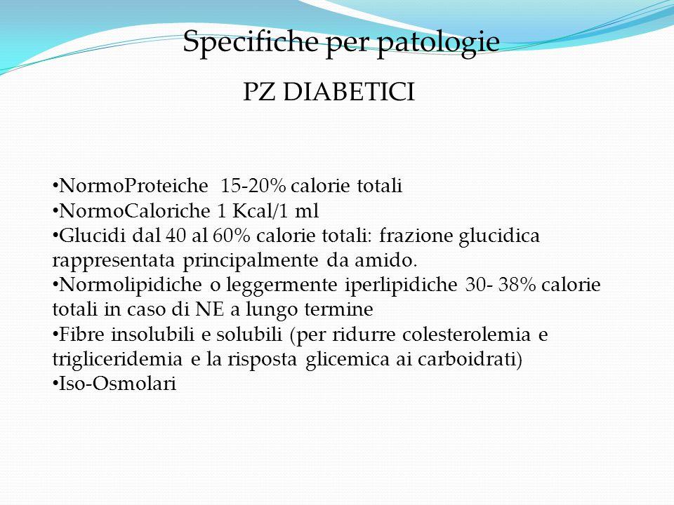 Specifiche per patologie