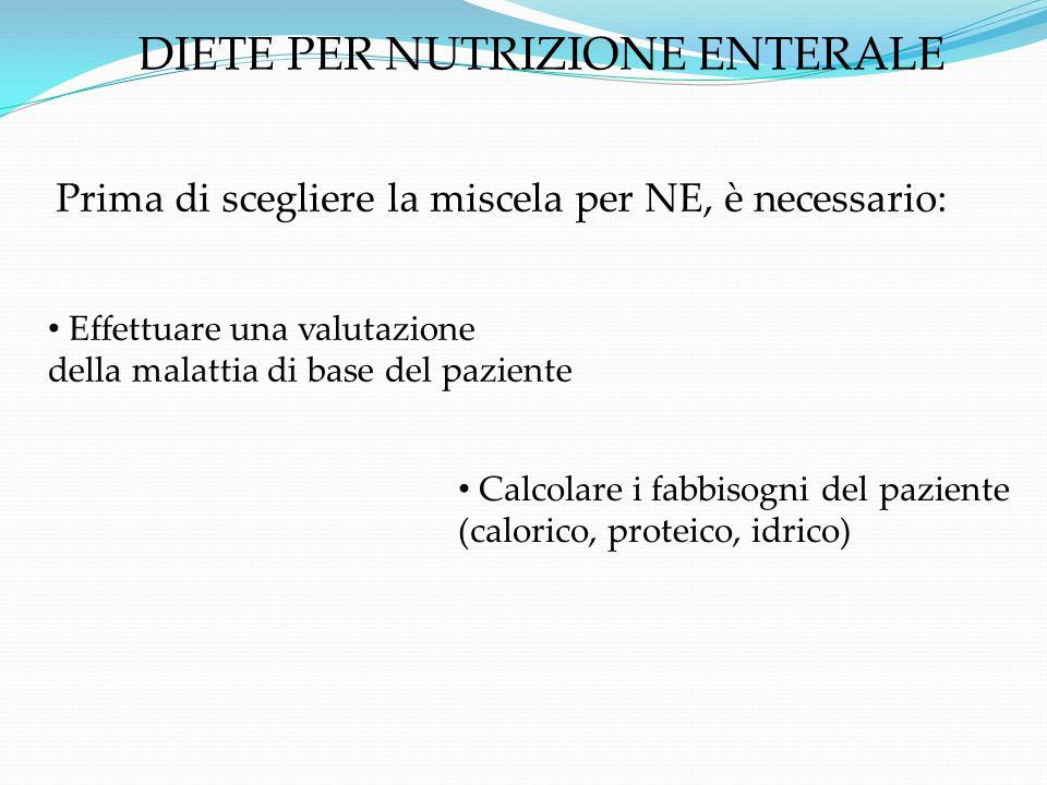 DIETE PER NUTRIZIONE ENTERALE