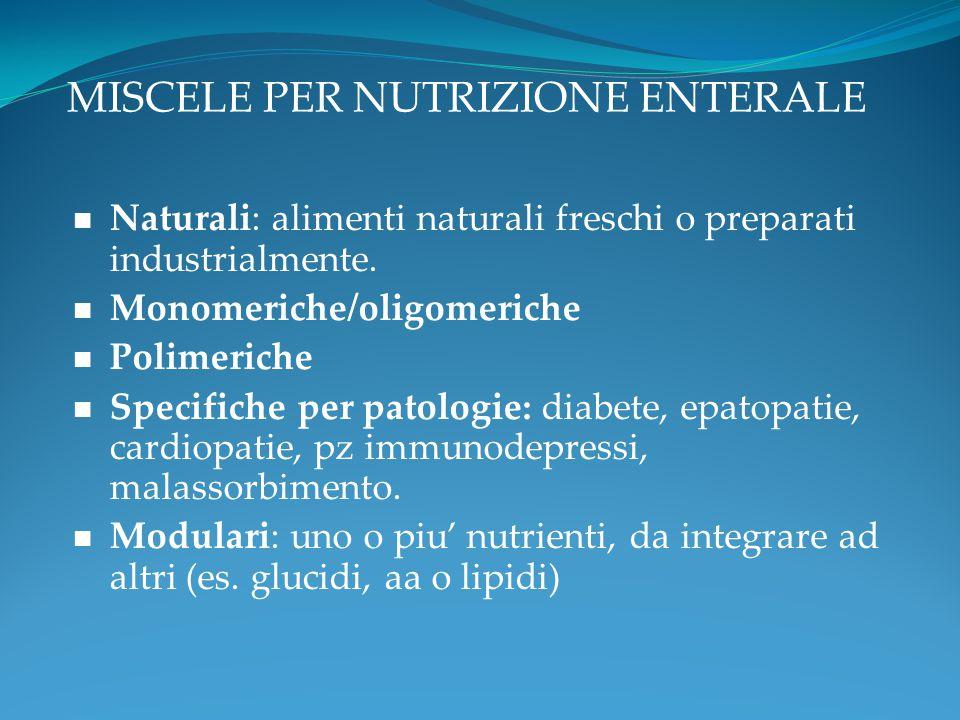 MISCELE PER NUTRIZIONE ENTERALE